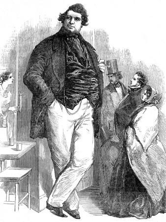 Robert Hales, the 'Norfolk Giant', 1851