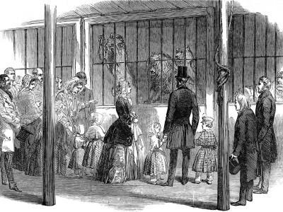 Queen Victoria and Prince Albert Visiting Wombwell's Menagerie