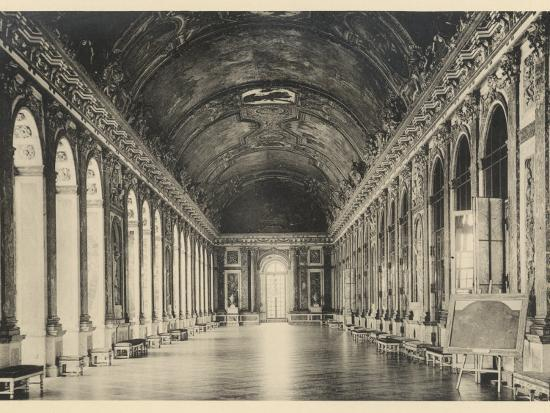 Interior Of The Palace Of Versailles Hall Of Mirrors Photographic