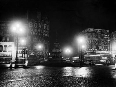 Lights Out in Piccadilly Circus, London, 1951