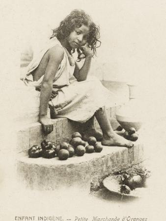 Moorish Girl Selling Oranges - Algeria