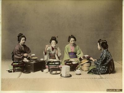 Japanese Women Eating Rice