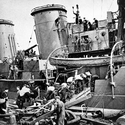 Sailors Carrying Potatoes onto HMS 'Coventry', Second World War