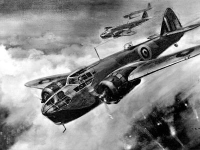 RAF 'Bristol' Blenheim Fighter-Bombers; Second World War