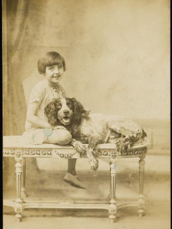 Smiling Girl and Dog
