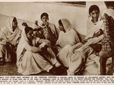Partition in India - Refugees at Willingdon Airport, New Delhi