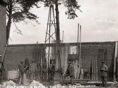 Sinking an Artesian Well, Union Workhouse, Aylsham, Norfolk