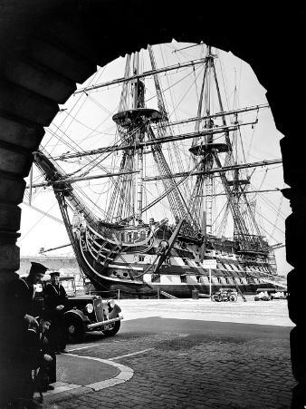 Photograph of H.M.S. Victory Docked