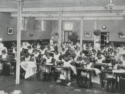 Sewing Class, Darenth Training Colony, Kent