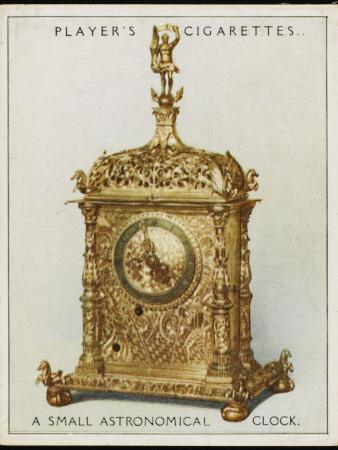 Small Astronomical Clock Made at Munich But Now in the Victoria and Albert Museum, London