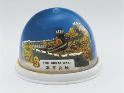 Figurine of the Great Wall of China in a Snow Globe