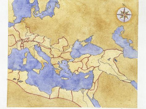picture relating to Printable Map of Ancient Rome named Historical Rome, Map of Roman Empire, Example