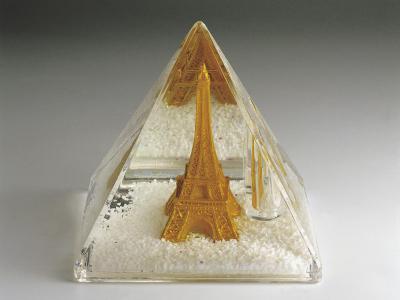 Figurine of Eiffel Tower in a Snow Globe
