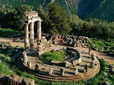 Greece - Delphi - Sanctuary of Athena Pronaia - Tholos (380 Back