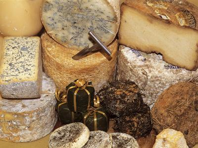 Close-Up of Various Types of Cheese