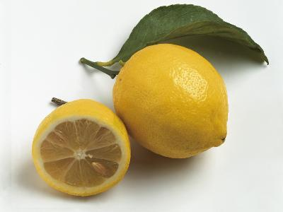 Close-Up of Two Lemon