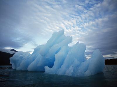 Usa, Alaska, Iceberg Floating on the Water