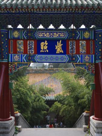China, Beijing, Traditional Architecture in Beihai Park