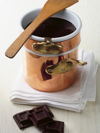 Close-Up of a Mug of Chocolate Sauce