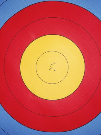 Archery Target with Holes in Centre
