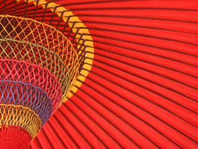 A Traditional Red Umbrella
