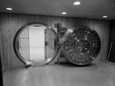 Bank Vault With Open Door
