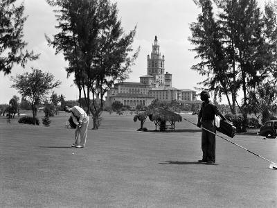 Man Playing Golf, Miami, Florida