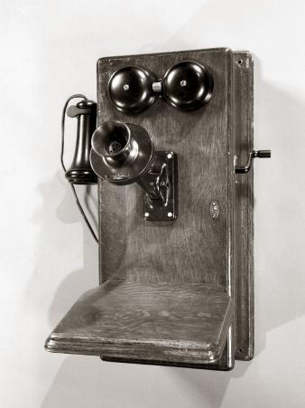 Wooden Old-Time Crank Wall Phone
