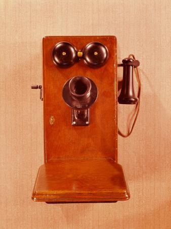 Old Fashioned Double Bell, Crank Style Telephone