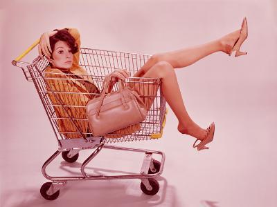 Woman in Supermarket Trolley