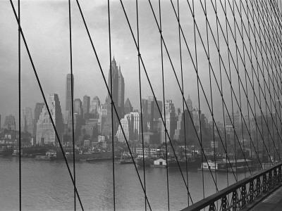 Brooklyn Bridge With New York City in Background