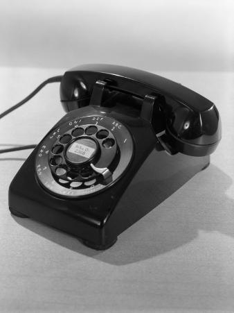 Rotary Dial Black Telephone