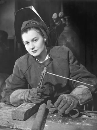 Woman Welding in Ww Ii Defense Plant