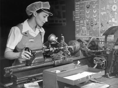 Woman Machinist at Work