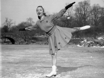 Woman Ice Skating