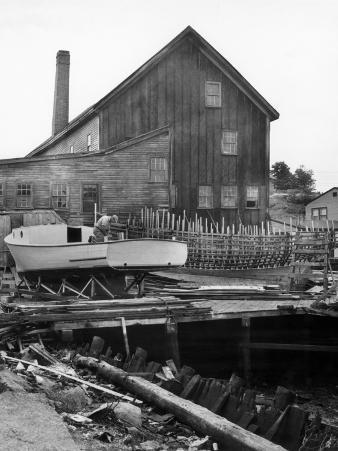 Man Building Boat