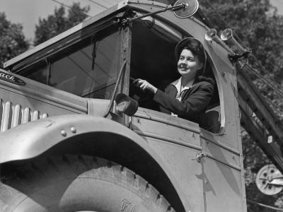 Woman Driving Truck