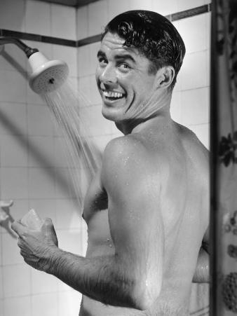 Man Enjoying Shower