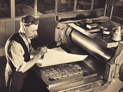 Old-Time Printing Press