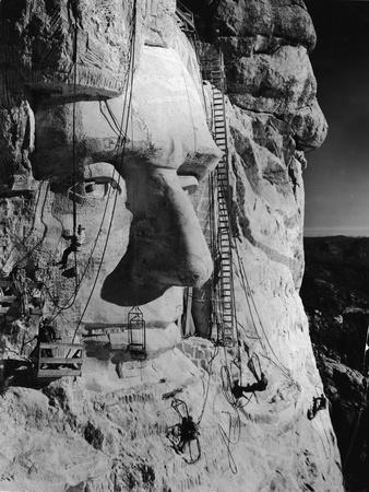 Carving Lincoln's Head