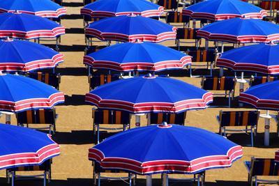 Beach in Riccione, Italian Adria, Italy