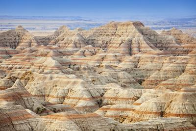 Usa, South Dakota, Badlands National Park, Beautiful ''Striped'' Rock Formation