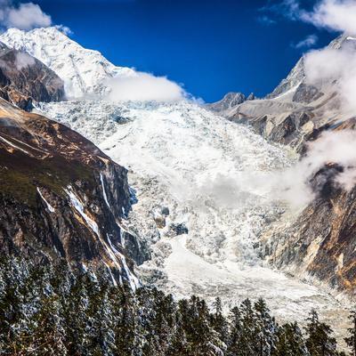 Glacier beneath on Mount Gongga