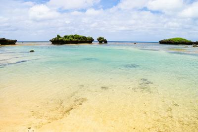Coral Rocks and Clear Tropical Water, Iriomote