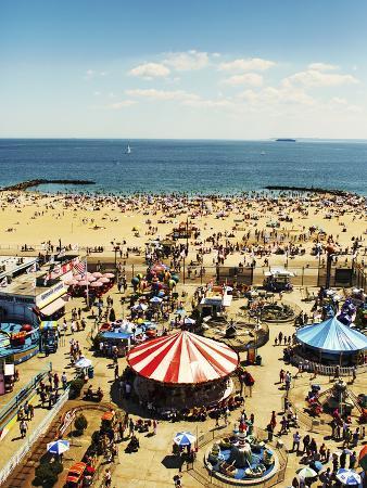 Coney Island, Ny, Elevated View