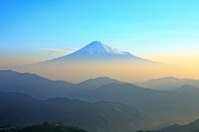 Mt. Fuji Seen from Shizuoka in the Morning