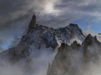The Dent Du Geant, in the Mont Blanc Massif