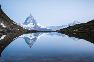Matterhorn Reflected in Riffelsee Lake at Sunrise