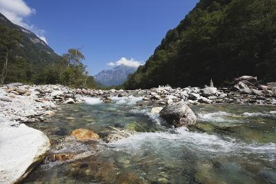 Europe, Switzerland, View of Verzasca River