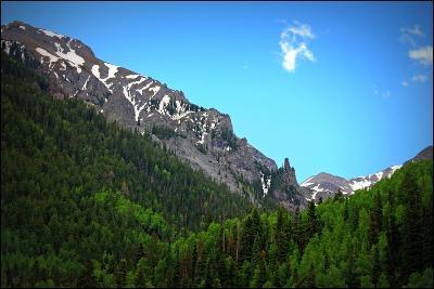 Telluride, Colorado, Mountain, Trees, Snow